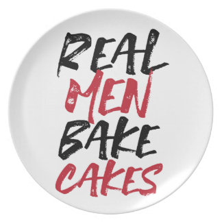 Real Men Bake Cakes plate