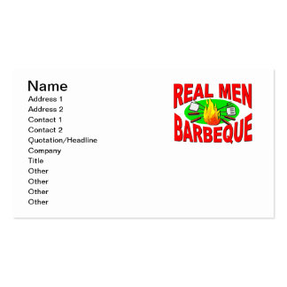 Real Men Barbeque Funny Design for The BBQ King Business Card