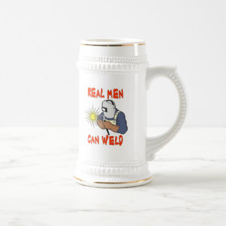 REAL MEN CAN WELD 18 OZ BEER STEIN