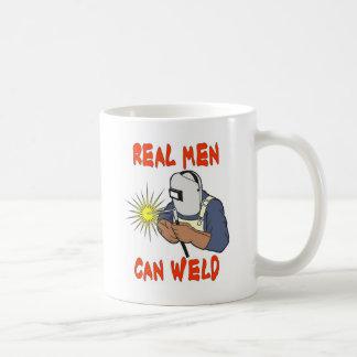REAL MEN CAN WELD BASIC WHITE MUG