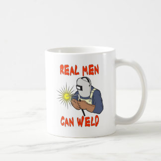 REAL MEN CAN WELD CLASSIC WHITE COFFEE MUG