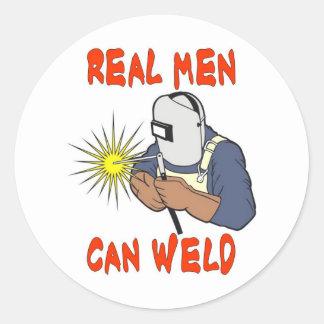 REAL MEN CAN WELD ROUND STICKER