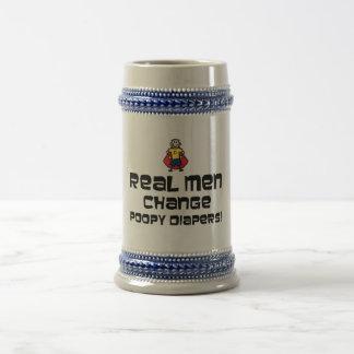 Real Men Change Poopy Diapers Beer Stein
