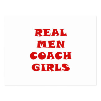Real Men Coach Girls Postcard