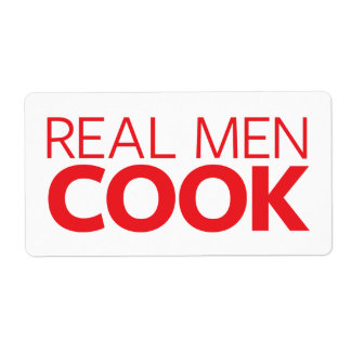 Real Men Cook Shipping Label