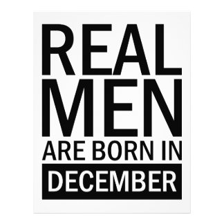 Real Men December Letterhead