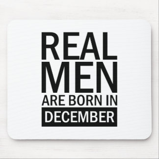 Real Men December Mouse Pad