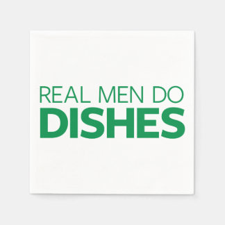 Real Men Do Dishes Disposable Napkin