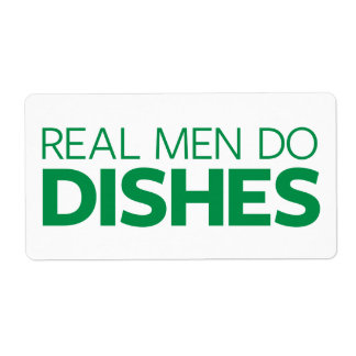 Real Men Do Dishes Shipping Label