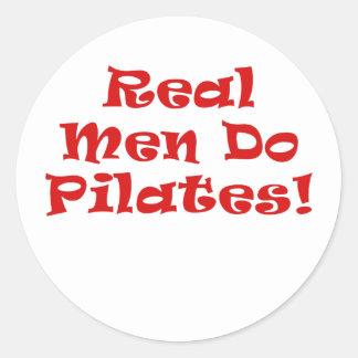 Real Men Do Pilates Round Sticker