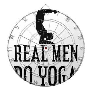 Real Men Do Yoga Dartboard
