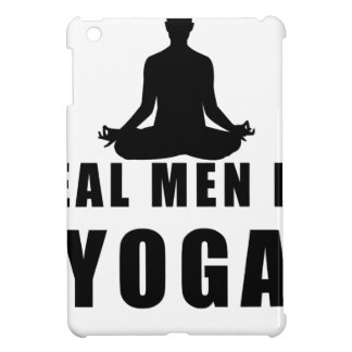 real men do yoga iPad mini cases