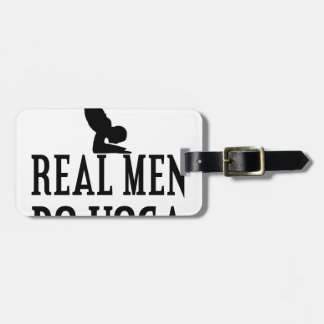 Real Men Do Yoga Luggage Tag