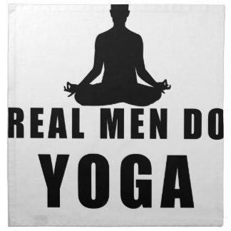 real men do yoga napkin