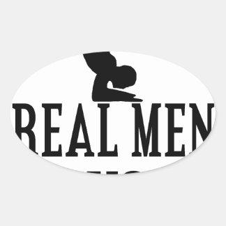 Real Men Do Yoga Oval Sticker