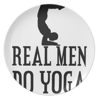 Real Men Do Yoga Plate
