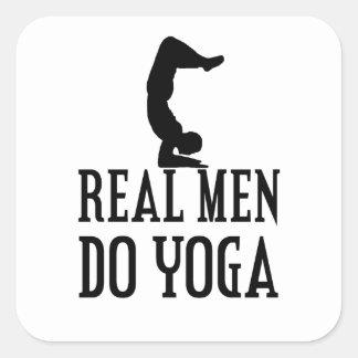 Real Men Do Yoga Square Sticker