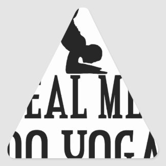 Real Men Do Yoga Triangle Sticker