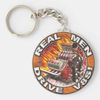 Real Men Drive V8s Keychain
