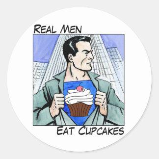 Real Men Eat Cupcakes Sticker Sheet