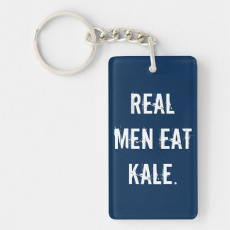 Real Men Eat Kale Rectangle (doublesided) Keychain