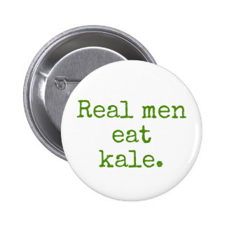 Real Men Eat Kale Vegan Button