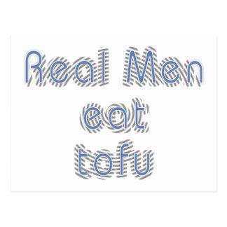 Real Men Eat Tofu Postcard