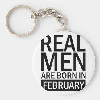 Real Men February Keychain