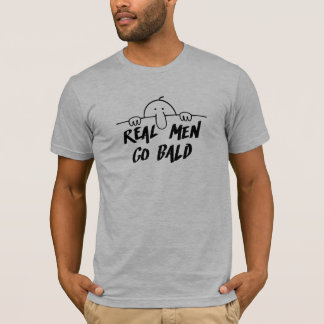 Real Men Go Bald Graffiti T-Shirt