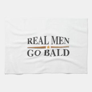 Real Men Go Bald Kitchen Towels