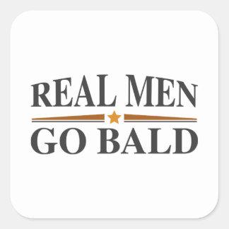 Real Men Go Bald Square Sticker