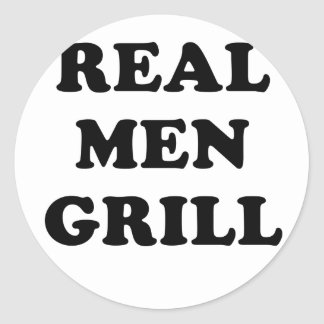 Real Men Grill Classic Round Sticker