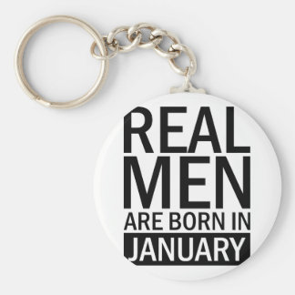 Real Men January Keychain