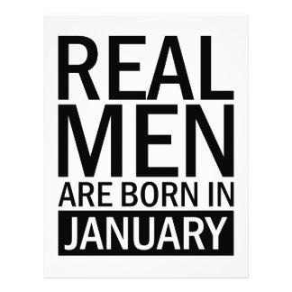 Real Men January Letterhead