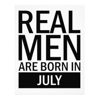 Real Men July Letterhead