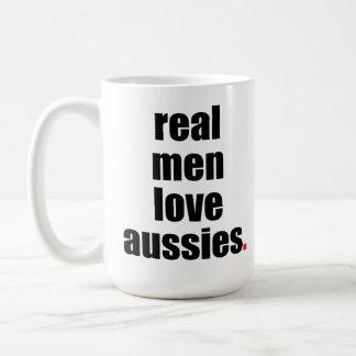 Real Men Love Aussies Mug
