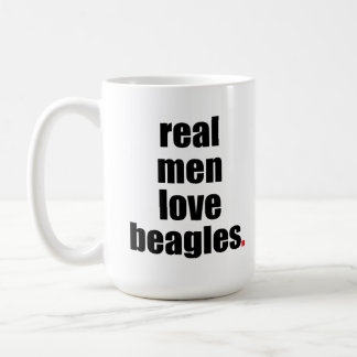 Real Men Love Beagles Mug