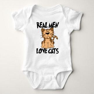 Real Men Love Cats Baby Bodysuit