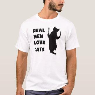 Real Men Love Cats (black) T-Shirt