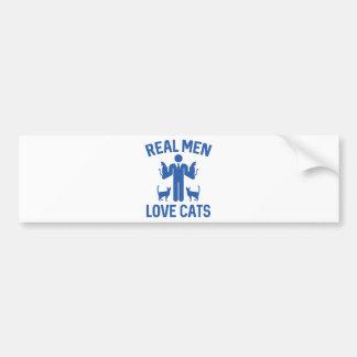 Real Men Love Cats Bumper Sticker