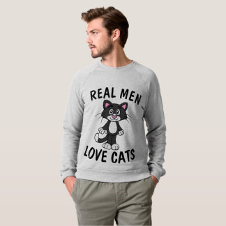 REAL MEN LOVE CATS Cat t-shirts & sweatshirts