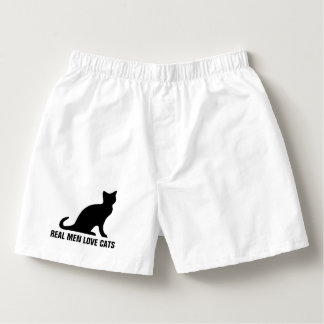 Real men love cats funny boxer shorts underwear boxers