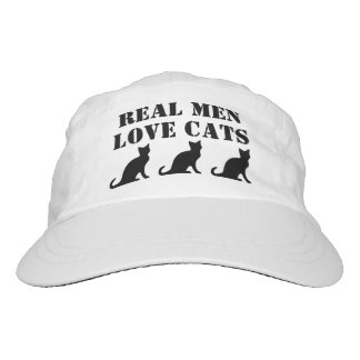 Real Men Love Cats funny hat for guys