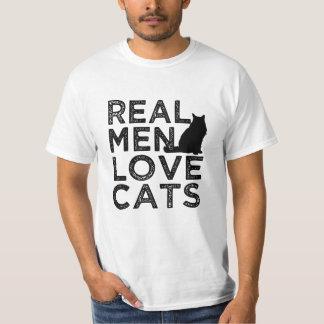 Real Men Love Cats funny men's shirt