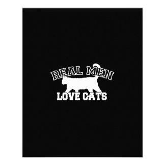 Real Men Love Cats Graphic Design on Black Decor Flyer