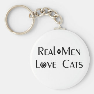 Real Men Love Cats Key Chain