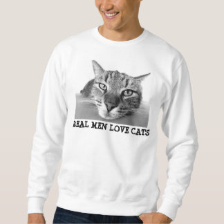 Real men love cats, Mens 'Sweatshirt Sweatshirt