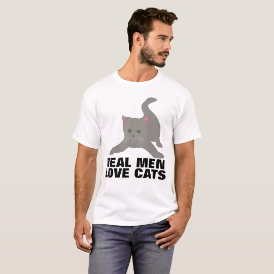 REAL MEN LOVE CATS t-shirts Tees