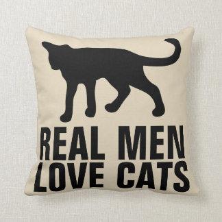 REAL MEN LOVE CATS throw Pillows