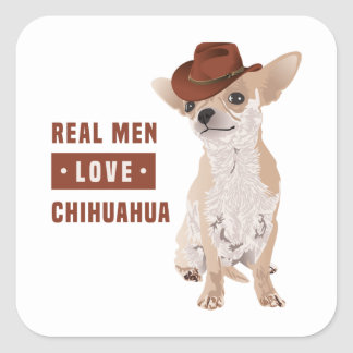 Real Men Love Chihuahua Sticker